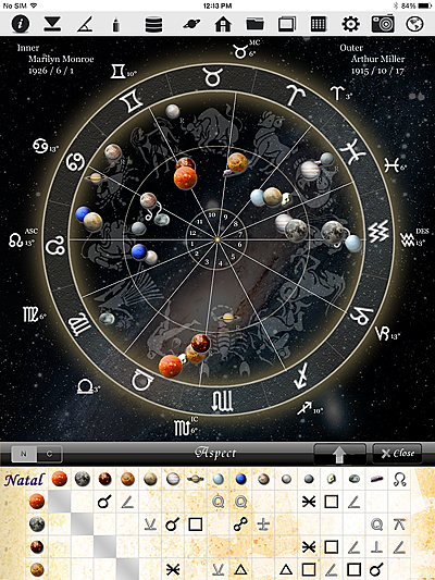horoscopeJIKU for iPad astrology fortune-telling divination free astrologer app software