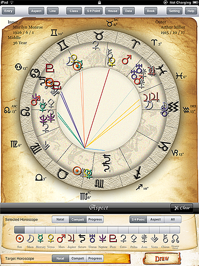 birth chart horoscope free astrology ASPECT horoscope app for astrologer