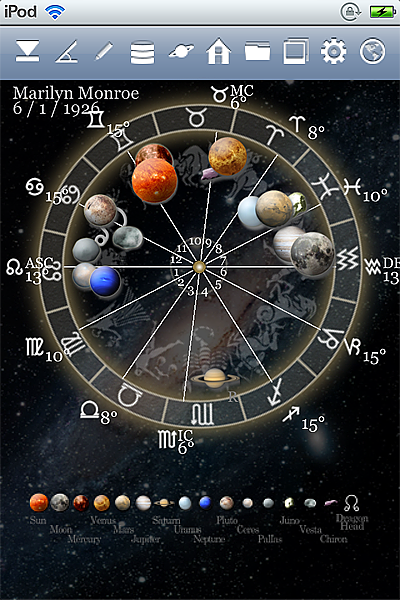 horoscope JIKU astrology astrologer iPhone screenshot space mode 3