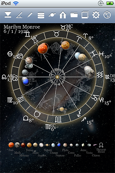 horoscope JIKU astrology astrologer iPhone screenshot space mode 2