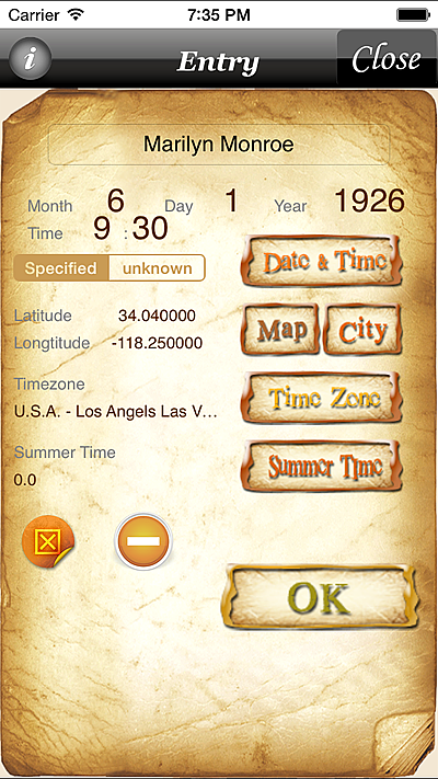horoscopeJIKU for iPhone astrology fortune-telling divination free astrologer app software