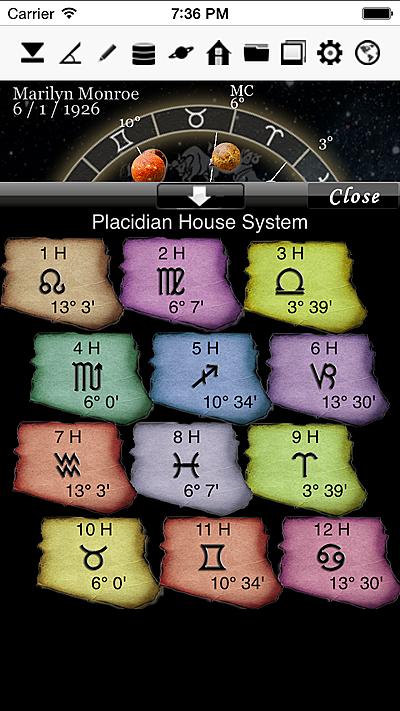 horoscopeJIKU for iPhone astrology fortune-telling divination free astrologer app software